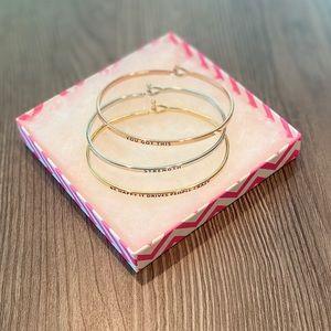 Jewelry - 🌺NEW🌺Inspirational Bangle Bracelet Set🌺